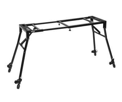 Adjustable mixer or keyboard stand with sloped legs