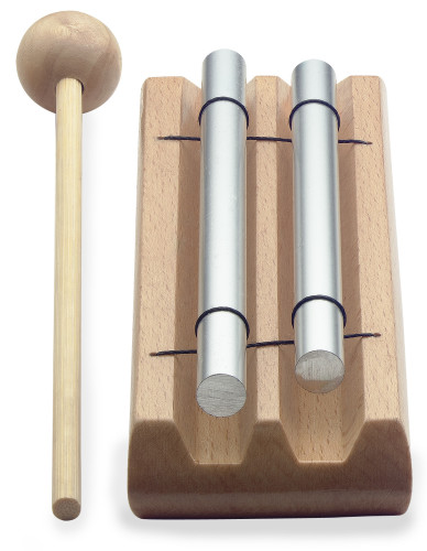 Table chime, two notes (C - E), with mallet
