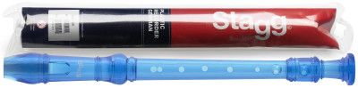 Soprano recorder with German fingering, translucent blue