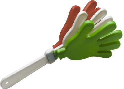 Plastic Go-Go hand-clapper in the Italian national colours