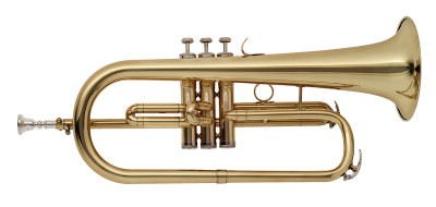 Bb Flugelhorn, M-bore, Brass body material