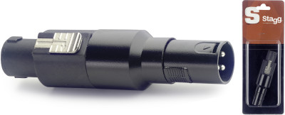 Adaptateur XLR mâle/ fiche HP mâle - 1 pc sous blister
