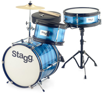 "Driedelige junior-drumset met hardware, 8""/10""/12"""