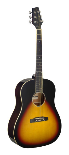 Slope Shoulder dreadnought guitar, sunburst, lefthanded model