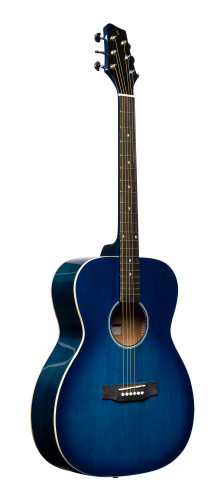 Auditorium guitar with basswood top, blue