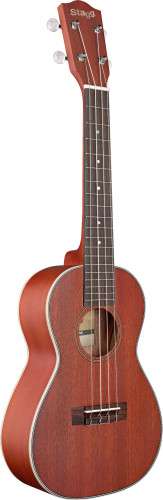 Concert Ukulele with solid mahogany top, in black nylon gigbag