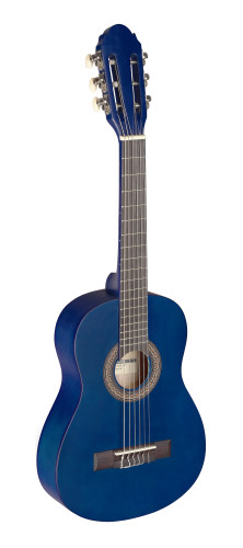 1/4 blue classical guitar with linden top