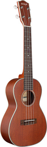 Concert Ukulele with solid Mahogany-A top, in black nylon gigbag