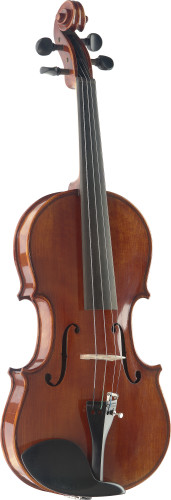 3/4 Hand-Varnished Solid Flamed Maple Violin with Deluxe soft-case