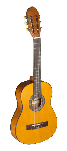 1/4 natural-coloured classical guitar with linden top