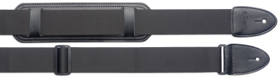 Braided nylon guitar strap with shoulder pad - Standard