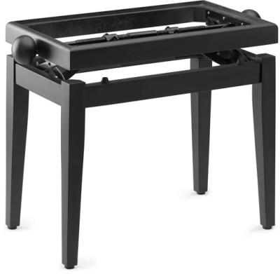 Matt black piano bench without top