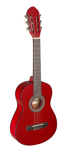 1/4 red classical guitar with linden top