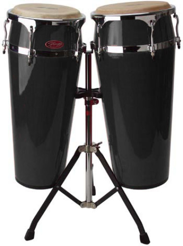 "2 x Latin drums 10""/11"" with height-adjustable stand (80-100 cm)"