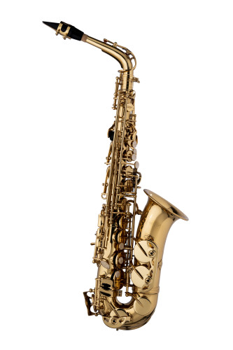 Saxophone alto en Mib; Gravé à la main; Vernis d'or