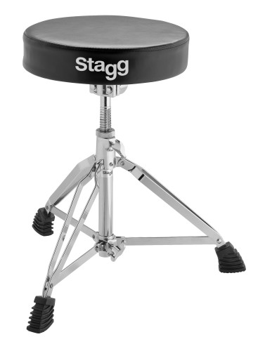 Double braced professional drum throne