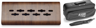 Laminated bended wood support for effects pedals, mini