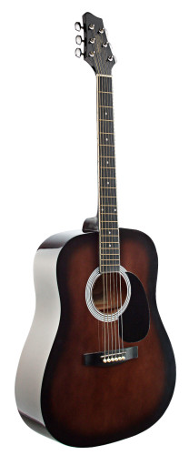 4/4 acoustic dreadnought guitar with blackburst basswood top