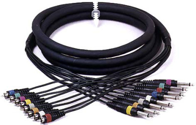 Pro Multicore cable 8x male phone-plug / 8x male RCA-plug