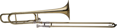 Trombone à coulisse ténor en Sib et Fa, open wrap, perce L