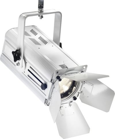 200-watt wash spotlight, warm light, white metal case (Wash 200)