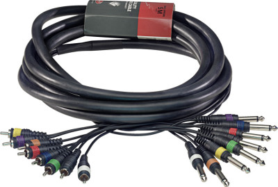 Multikabel - 8 x jack/ 8 x cinch m