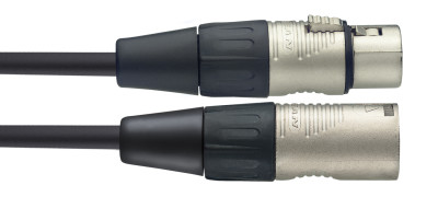 Microphone cable, XLR/XLR (m/f), 3 (10'), N-series