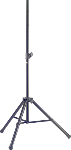 Heavy-duty steel speaker stand with folding legs