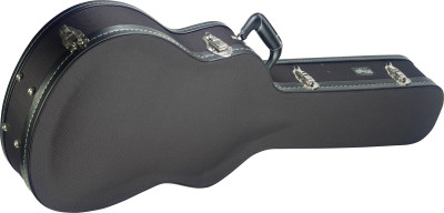 Vintage-style series black tweed deluxe hardshell case for auditorium guitar