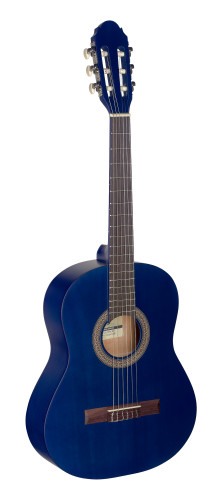 1/2 blue classical guitar with linden top
