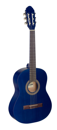 3/4 blue classical guitar with linden top