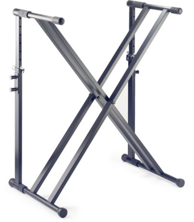Double X-shaped keyboard stand