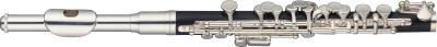 C Piccolo flute, head joint in nickel silver w/silver plated, ABS body