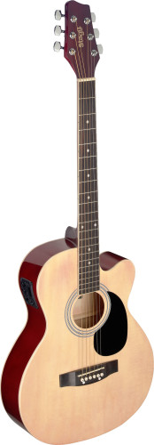 Auditorium cutaway acoustic-electric guitar with basswood top