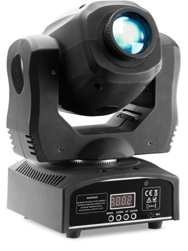 Gobo moving head with 60-watt COB LED, 7 colours, 7 gobos