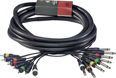 Multicâble - 8 x phone-plug/8 x RCA m