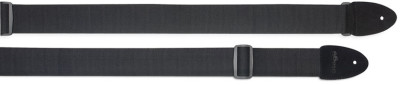 Cotton guitar strap with leather ends