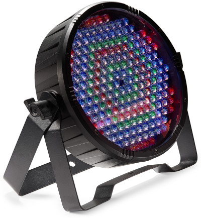 Flat ECOPAR 186 spotlight with 186 x 0.1-watt R/G/B/W LED