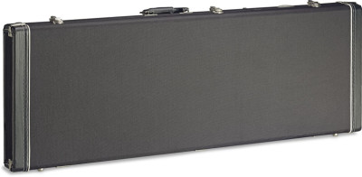 Vintage-style series black tweed deluxe hardshell case for electric guitar, square-shaped model