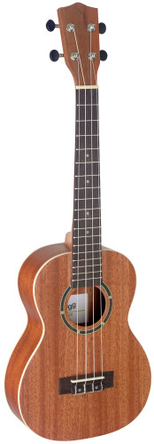 Traditional tenor ukulele with sapele top and gigbag