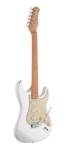 Electric guitar with solid alder body