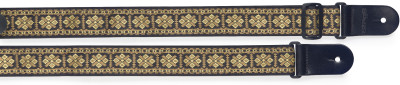 Woven nylon guitar strap with cross pattern