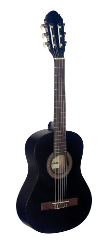 1/2 black classical guitar with linden top