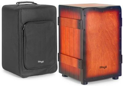 Standard-sized Crate cajón with sunburst red finish