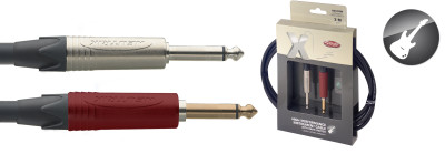 X-Series Professional Instrument Cable - Phone P./Phone P. - w. mute switch