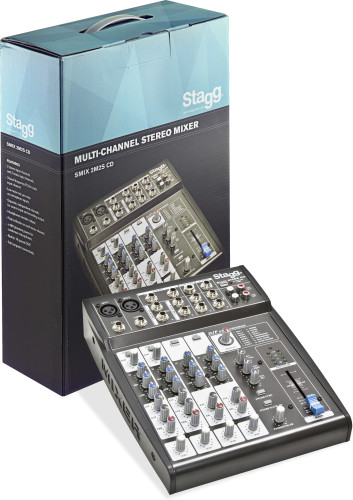 Multi-channel stereo mixer with 2 mono & 2 stereo input channels
