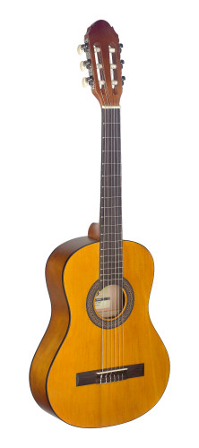 1/2 natural-coloured classical guitar with linden top