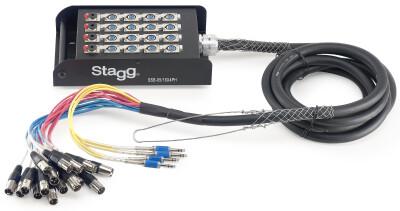 S-Serie Stagebox - 16x XLR F Ingangen/ 4x Stereo Jack F Uitgangen