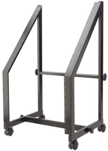 "Fixed 19""/13U+7U rack trolley, for power amps and mixers"