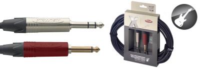 """X-Serie Professionele Instrumentkabel - Jack M / Jack M - Met """"mute switch"""""""